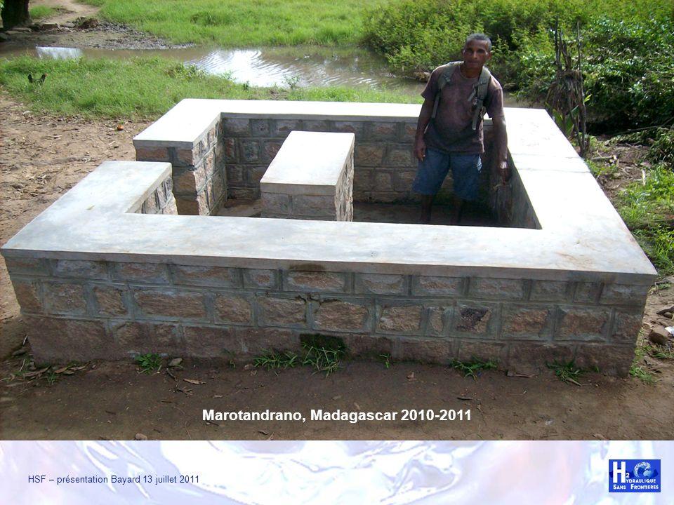 Exemples de réalisations Marotandrano, Madagascar 2010-2011