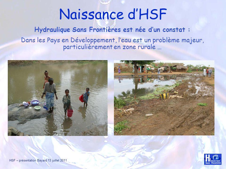 Hydraulique Sans Frontières est née d'un constat :