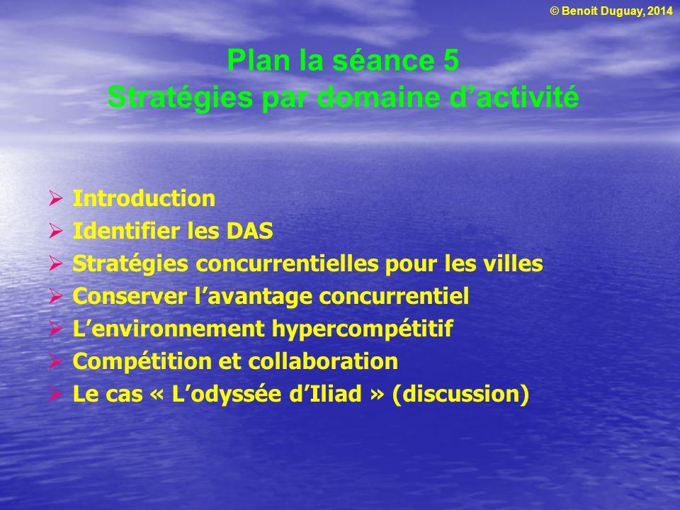Plan la séance 5 Stratégies par domaine d'activité
