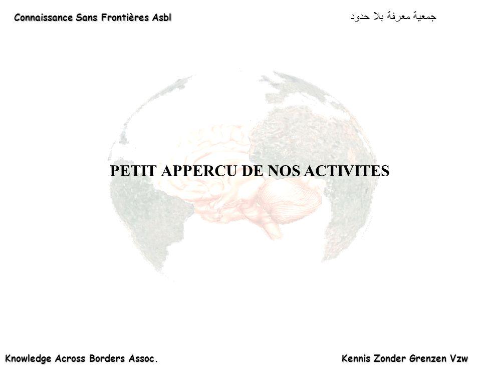 PETIT APPERCU DE NOS ACTIVITES