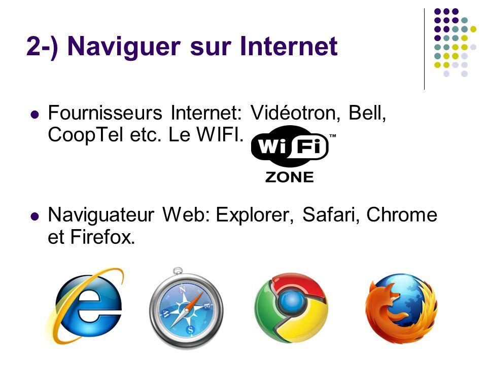 2-) Naviguer sur Internet