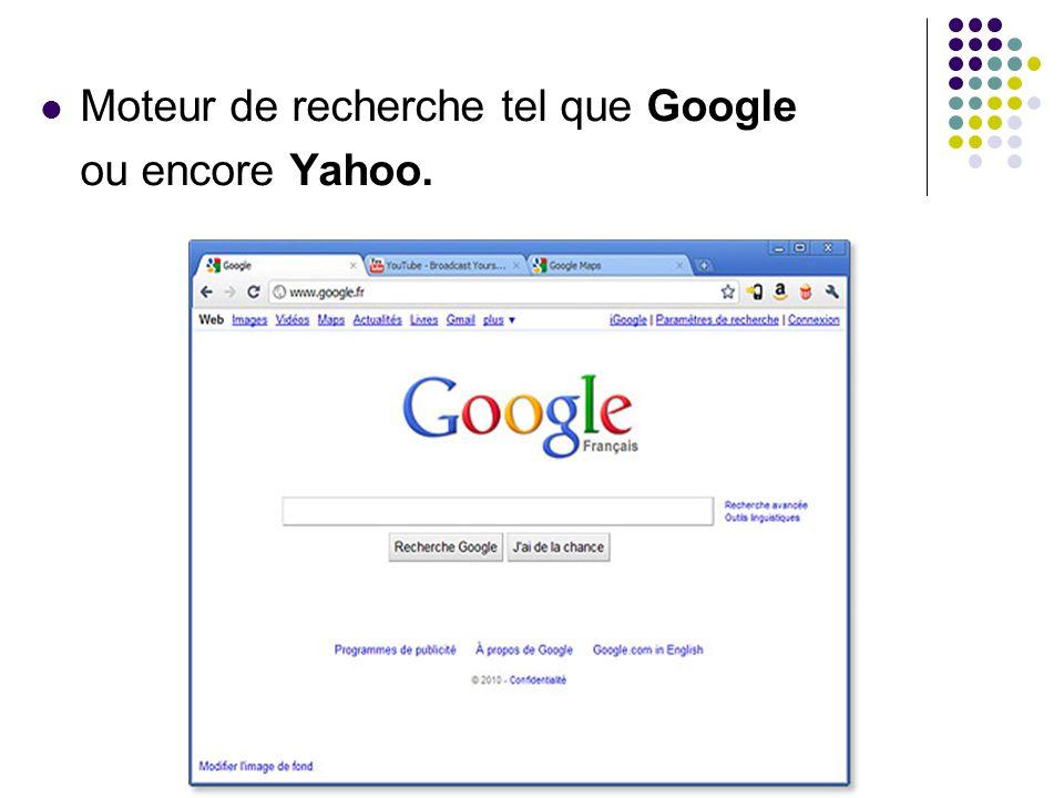 Moteur de recherche tel que Google
