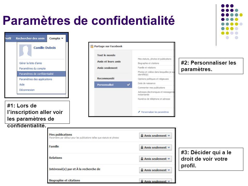 Paramètres de confidentialité