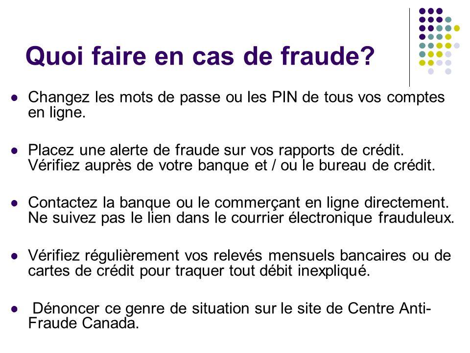 Quoi faire en cas de fraude