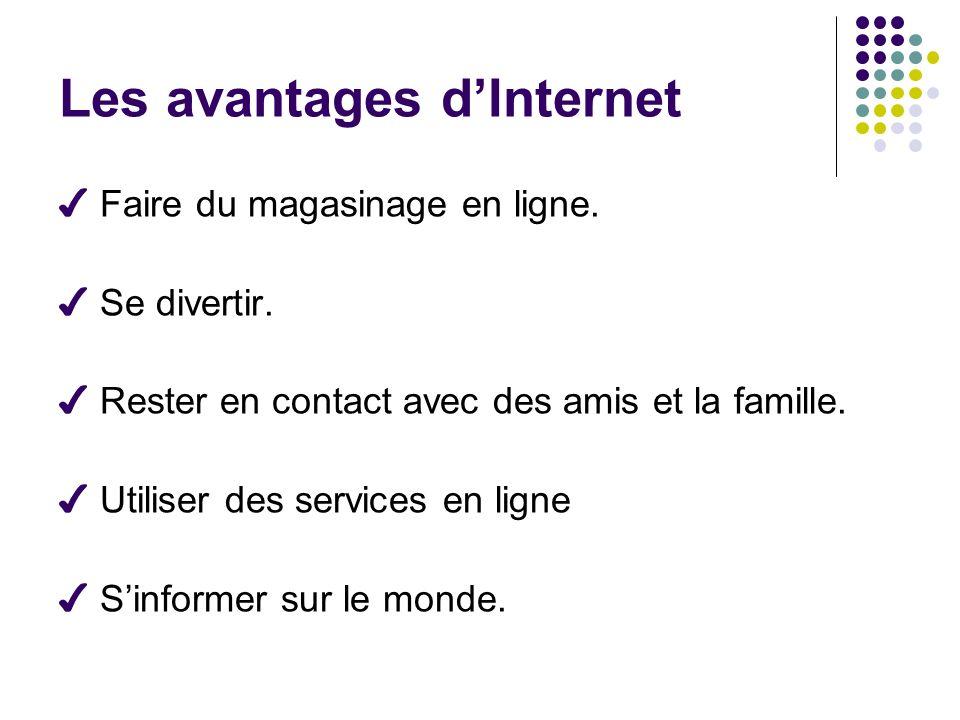 Les avantages d'Internet