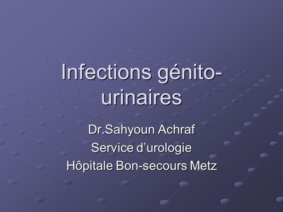Infections génito-urinaires