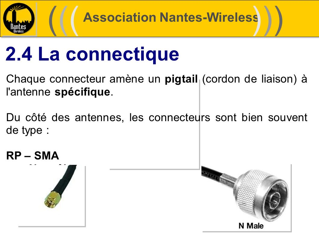 ((( ))) 2.4 La connectique Association Nantes-Wireless