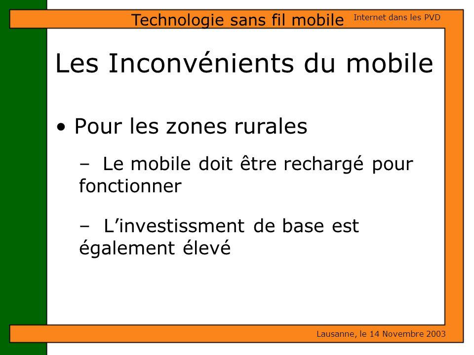 Les Inconvénients du mobile