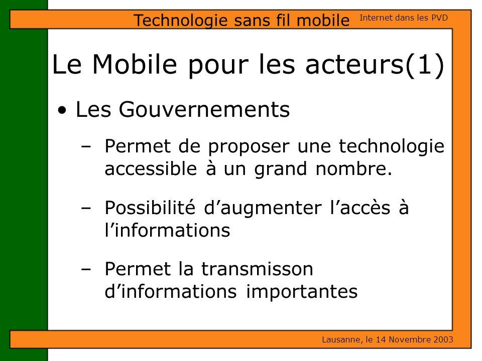 Le Mobile pour les acteurs(1)