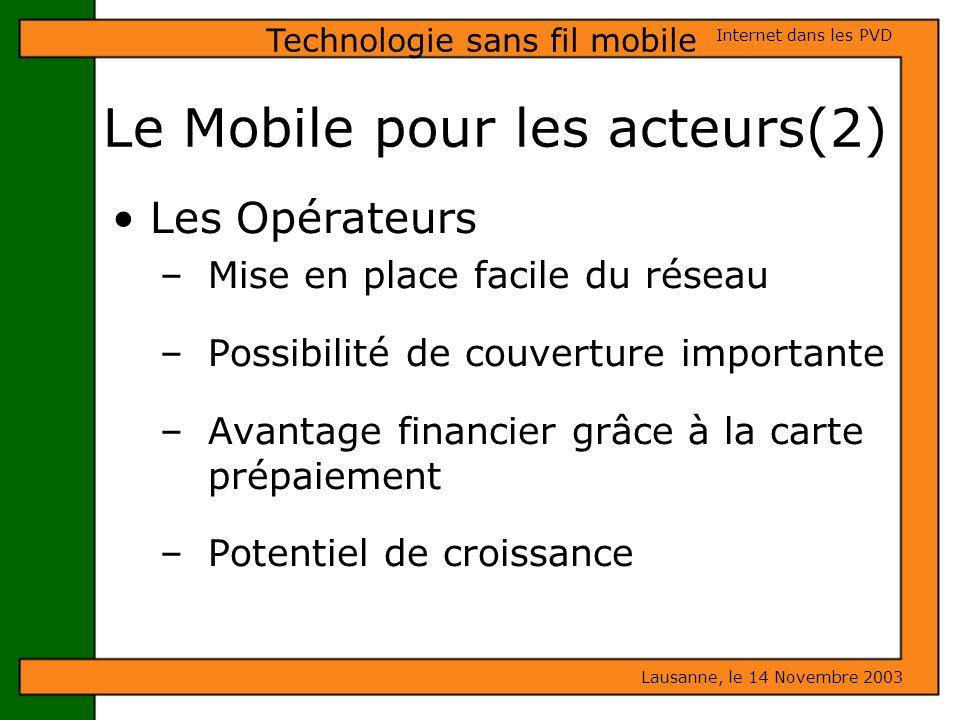 Le Mobile pour les acteurs(2)