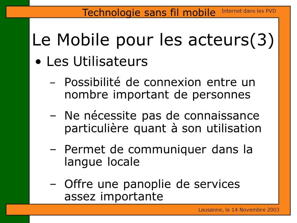 Le Mobile pour les acteurs(3)
