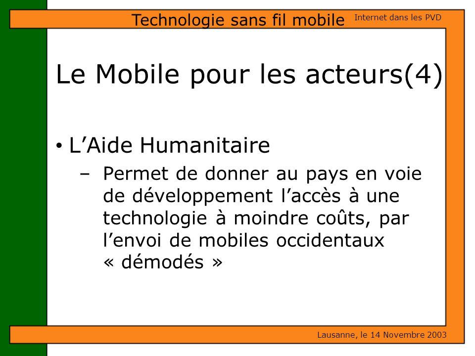 Le Mobile pour les acteurs(4)