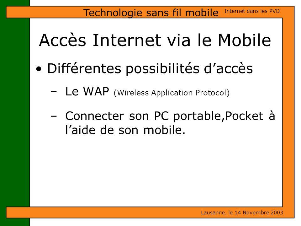 Accès Internet via le Mobile