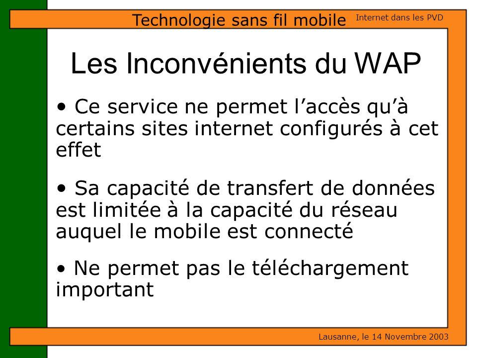 Les Inconvénients du WAP
