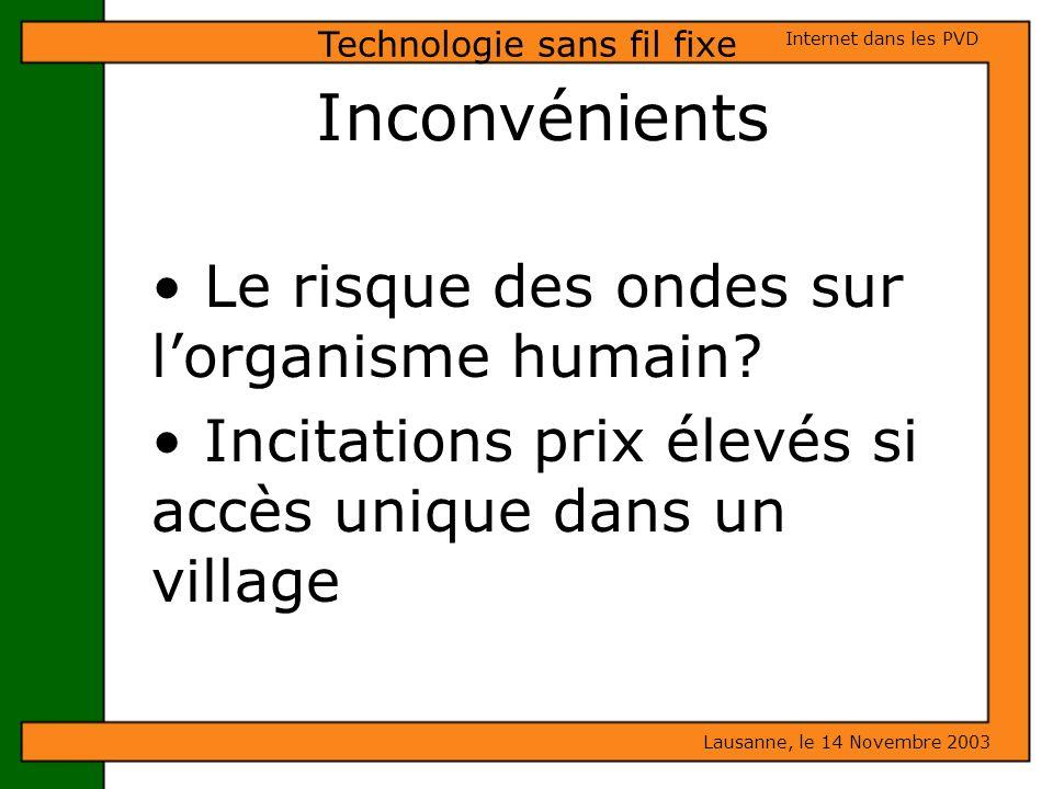 Technologie sans fil fixe