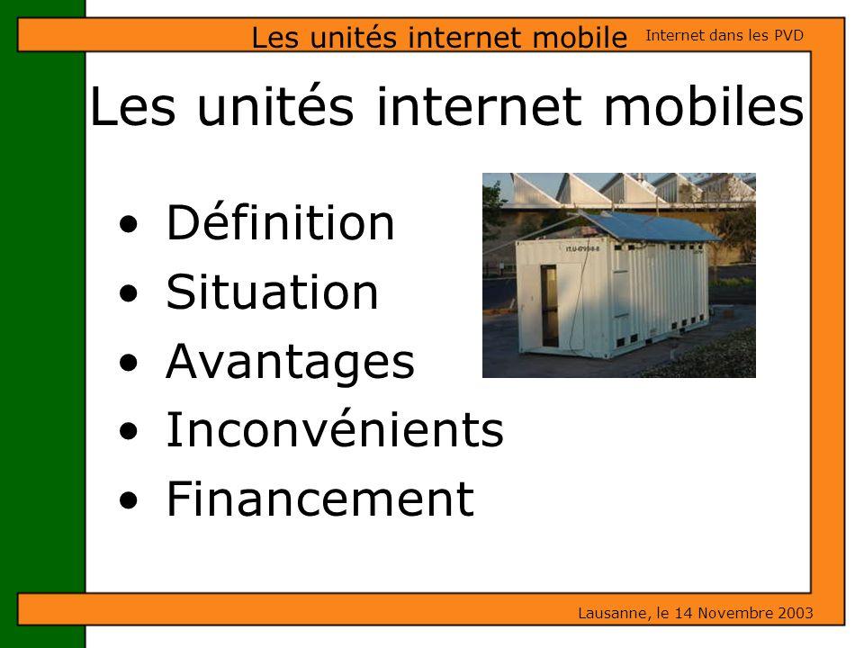 Les unités internet mobiles