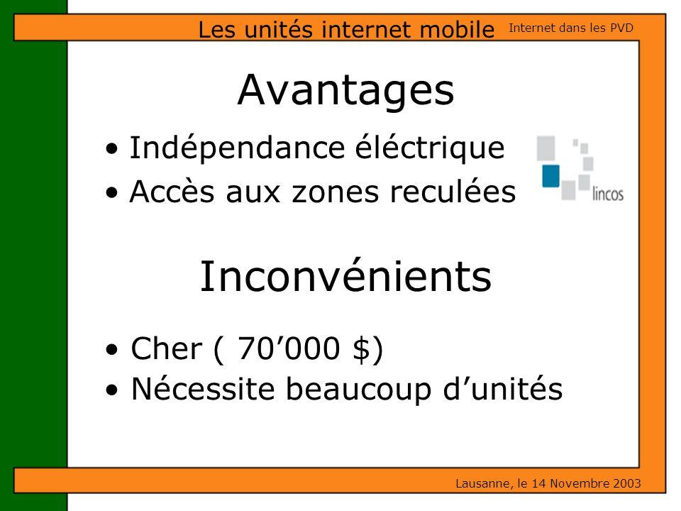 Les unités internet mobile