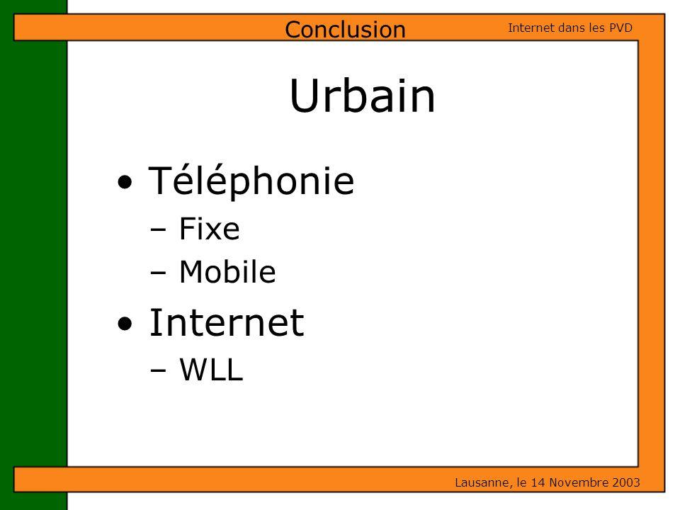 Téléphonie Fixe Mobile Internet WLL
