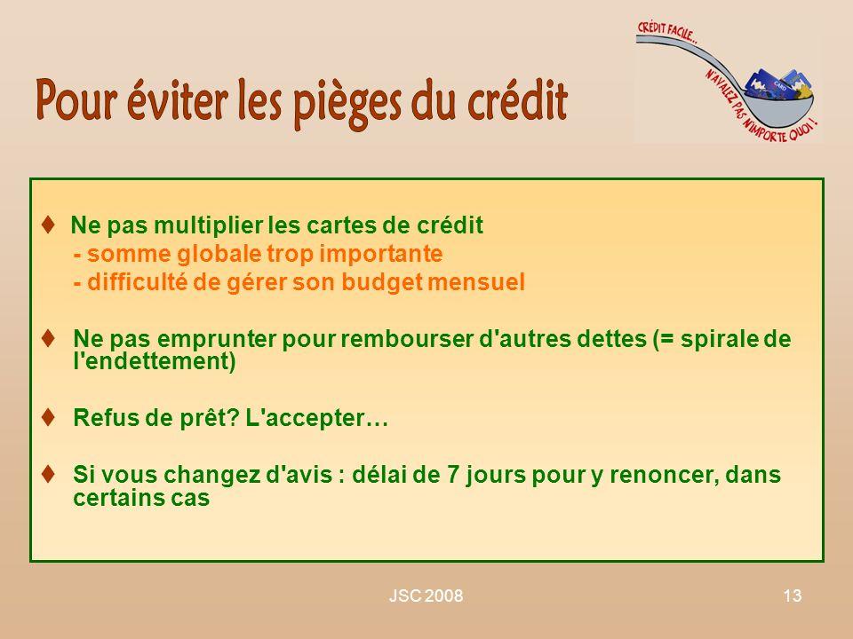 Pour éviter les pièges du crédit