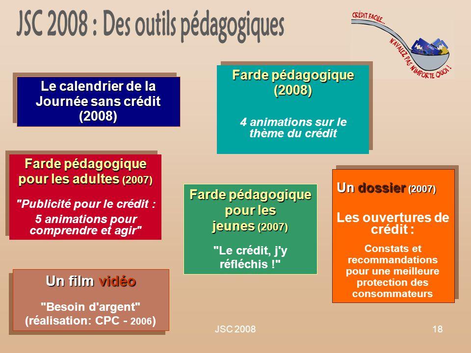 JSC 2008 : Des outils pédagogiques