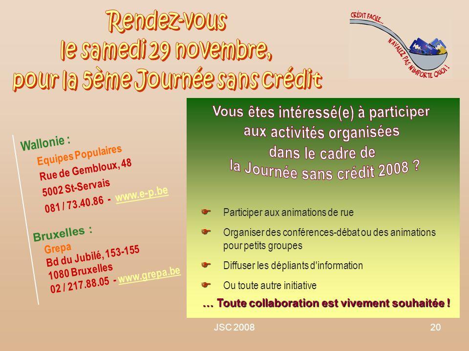 Vous êtes intéressé(e) à participer aux activités organisées