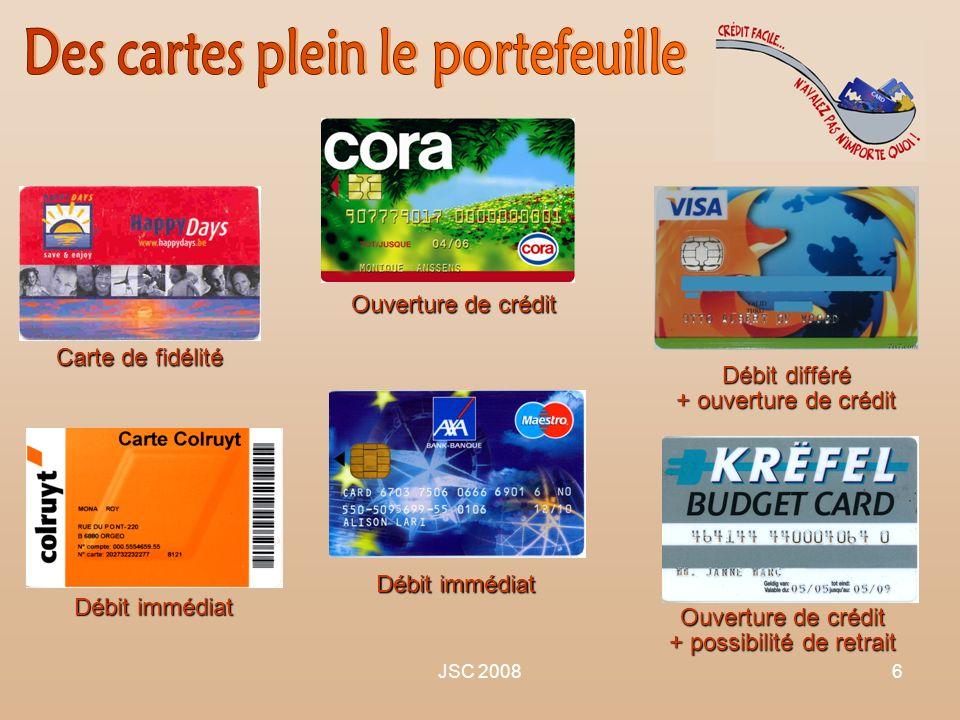 Des cartes plein le portefeuille