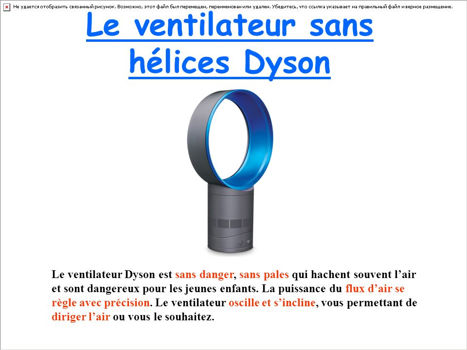 le ventilateur sans h lices dyson ppt video online. Black Bedroom Furniture Sets. Home Design Ideas