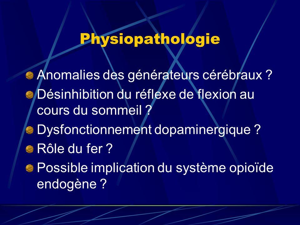 Physiopathologie Anomalies des générateurs cérébraux
