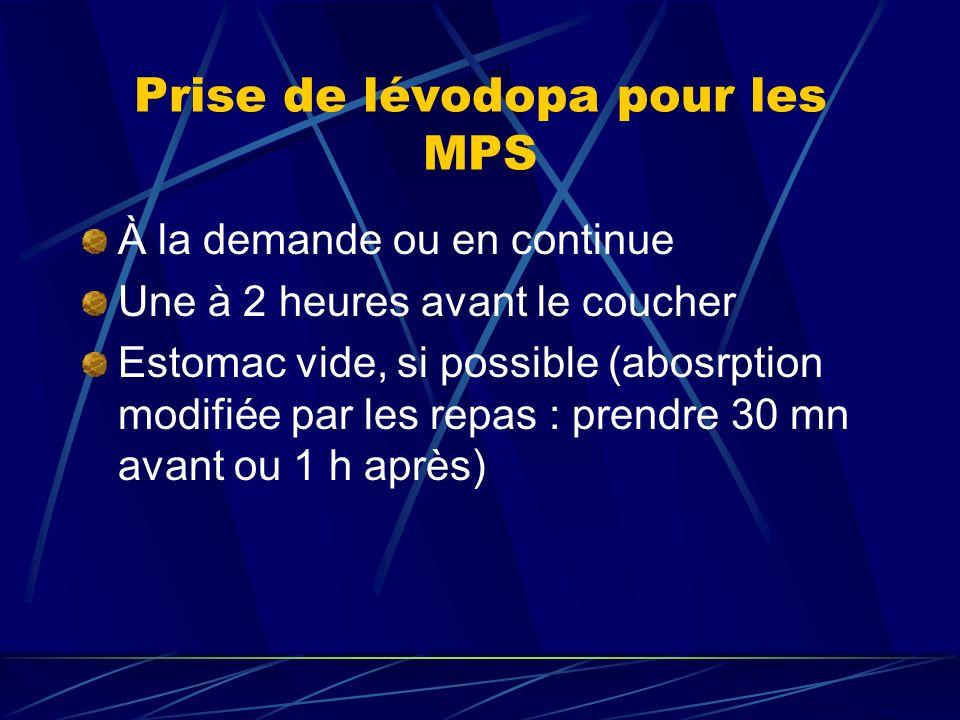Prise de lévodopa pour les MPS