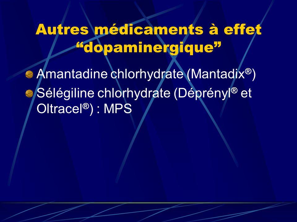 Autres médicaments à effet dopaminergique