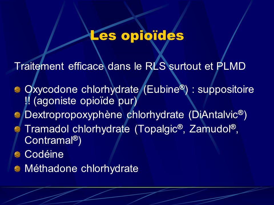 Les opioïdes Traitement efficace dans le RLS surtout et PLMD