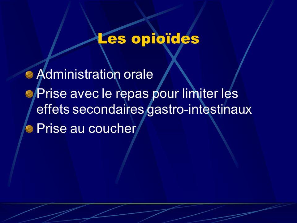 Les opioïdes Administration orale