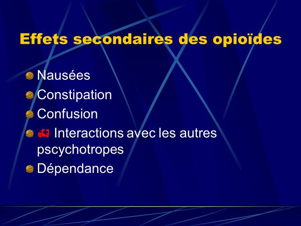Effets secondaires des opioïdes