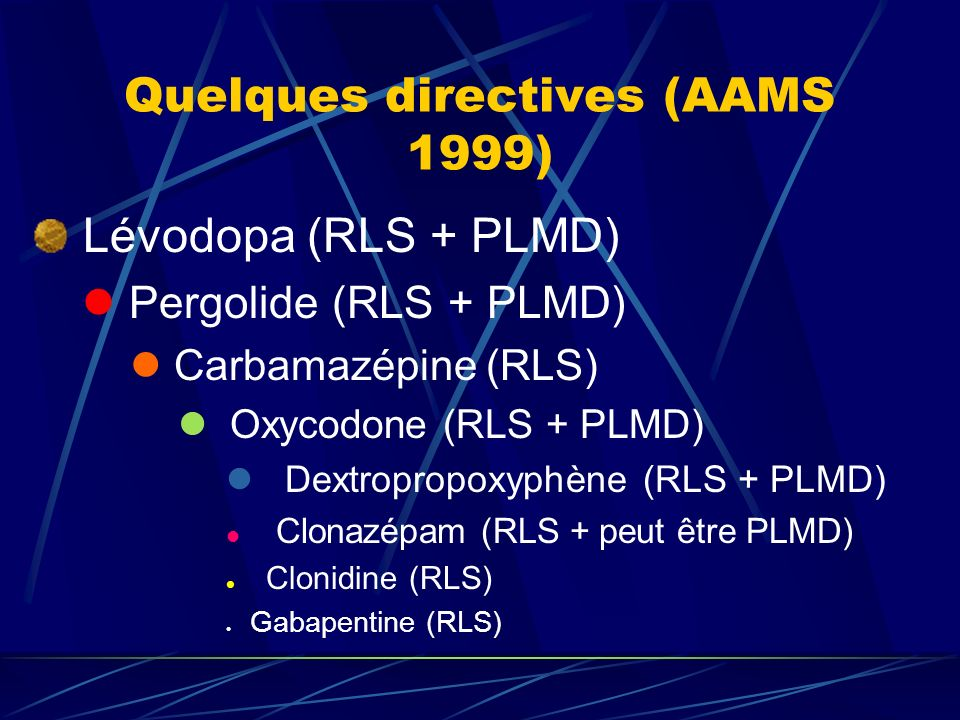 Quelques directives (AAMS 1999)