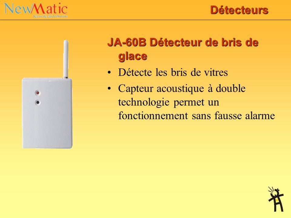 DétecteursJA-60B Détecteur de bris de glace. Détecte les bris de vitres.