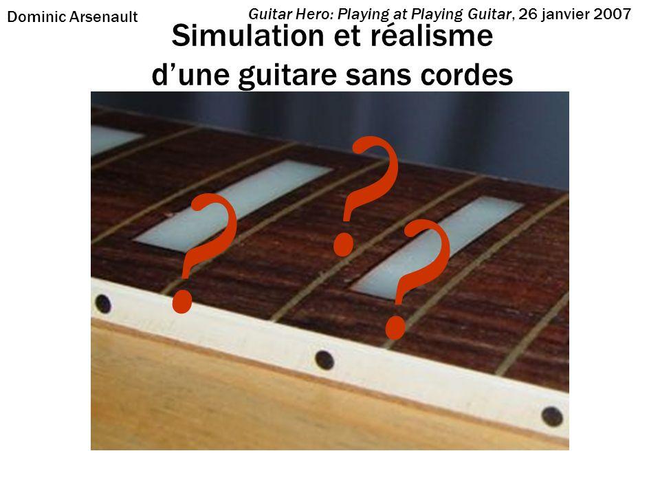 Simulation et réalisme d'une guitare sans cordes