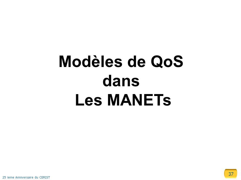 Modèles de QoS dans Les MANETs