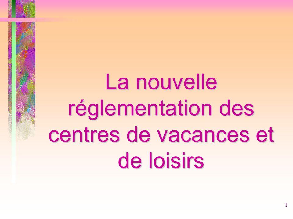 La nouvelle réglementation des centres de vacances et de loisirs