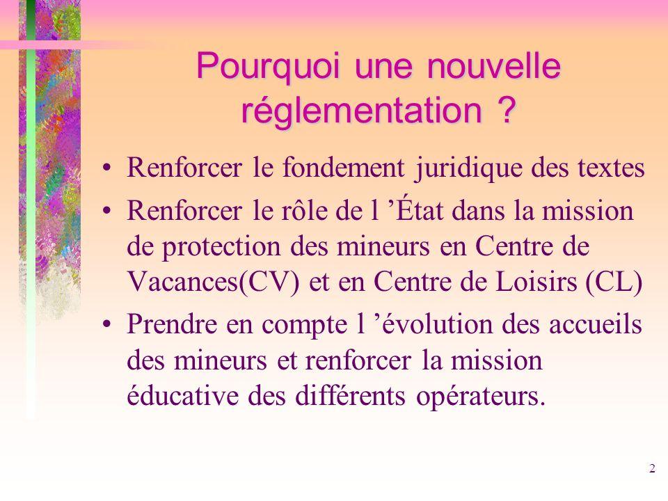 Pourquoi une nouvelle réglementation