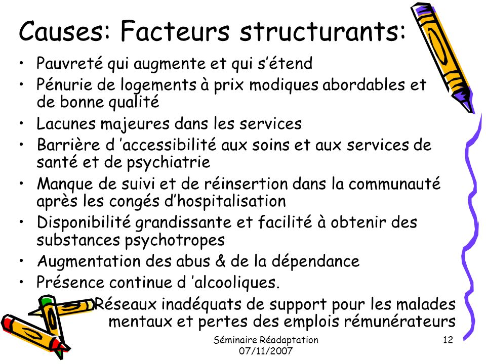 Causes: Facteurs structurants: