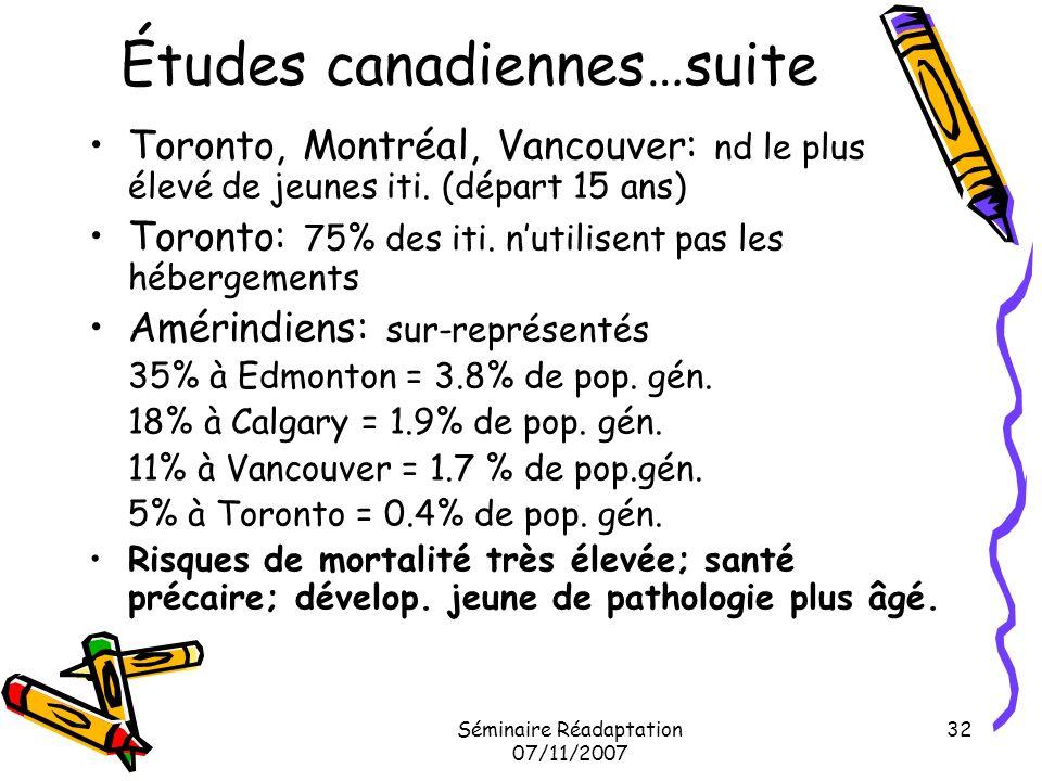 Études canadiennes…suite
