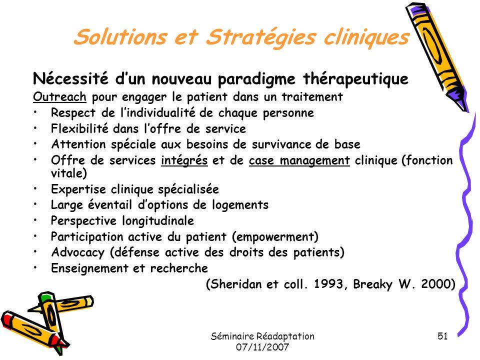 Solutions et Stratégies cliniques