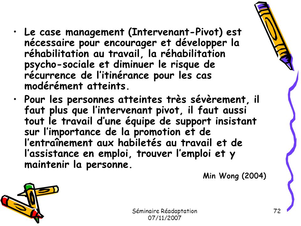 Séminaire Réadaptation 07/11/2007