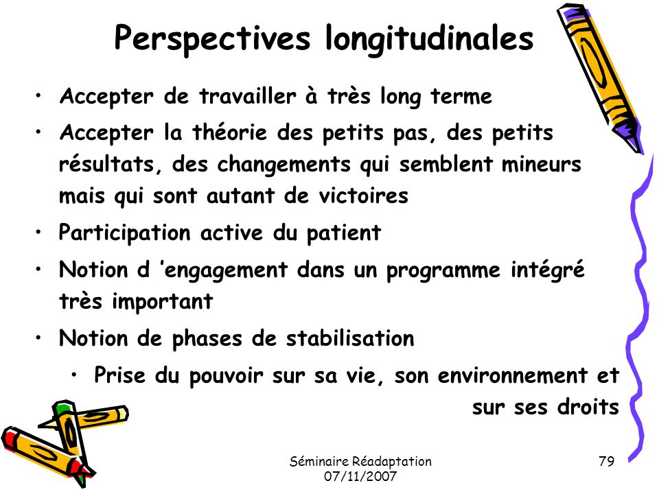 Perspectives longitudinales