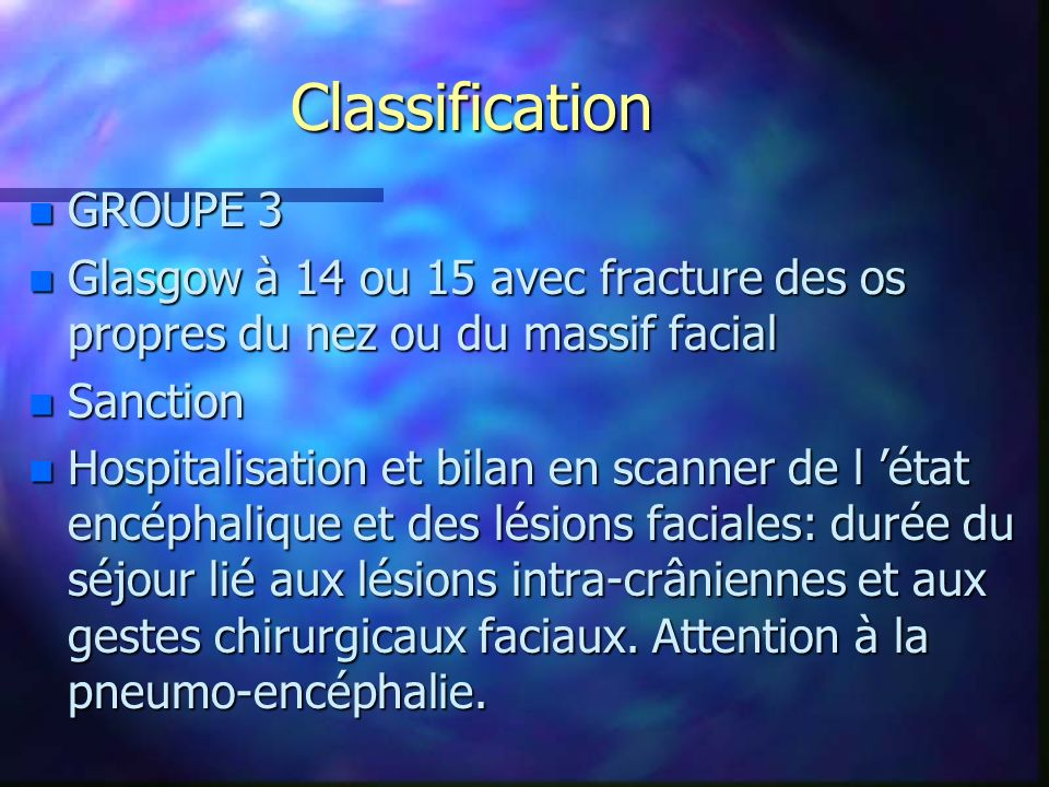 Classification GROUPE 3