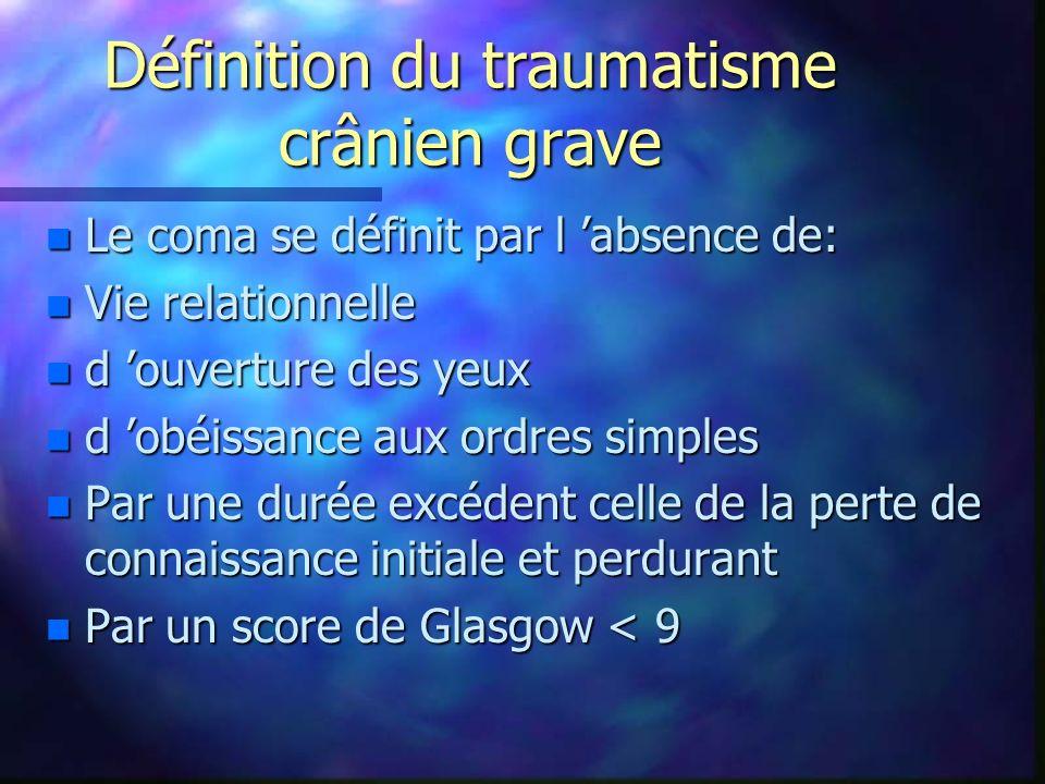 Définition du traumatisme crânien grave