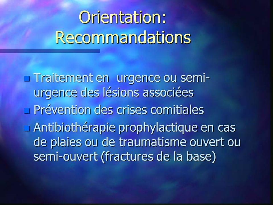 Orientation: Recommandations