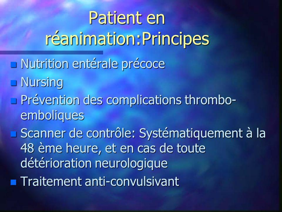 Patient en réanimation:Principes