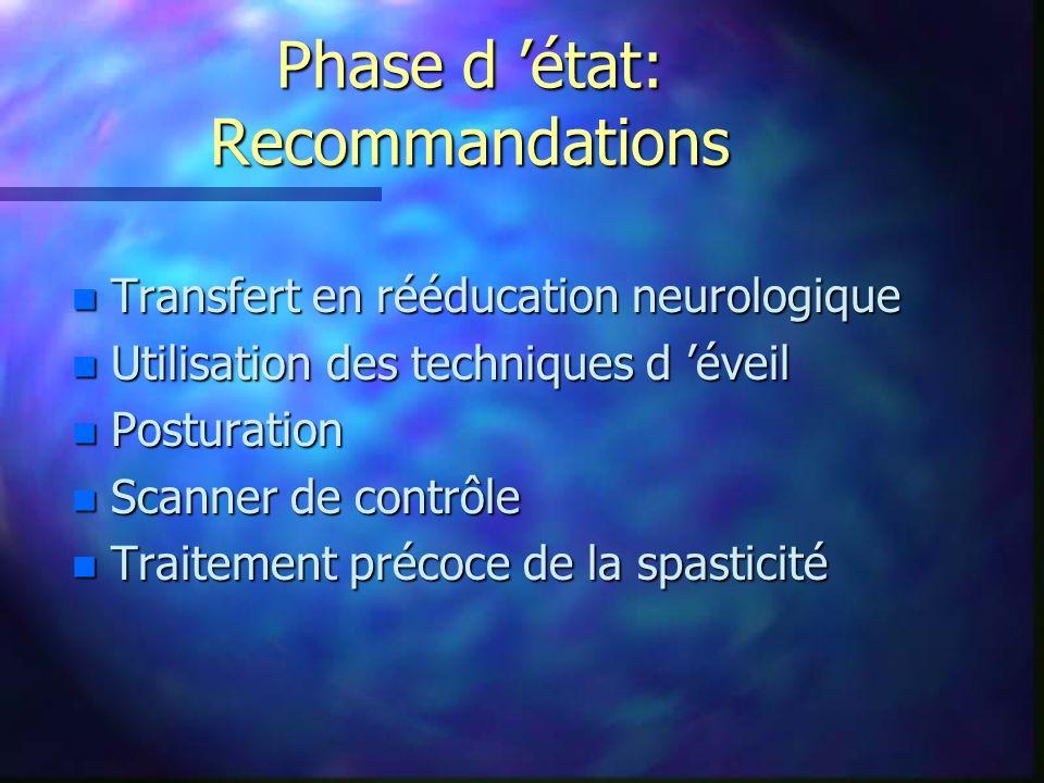 Phase d 'état: Recommandations