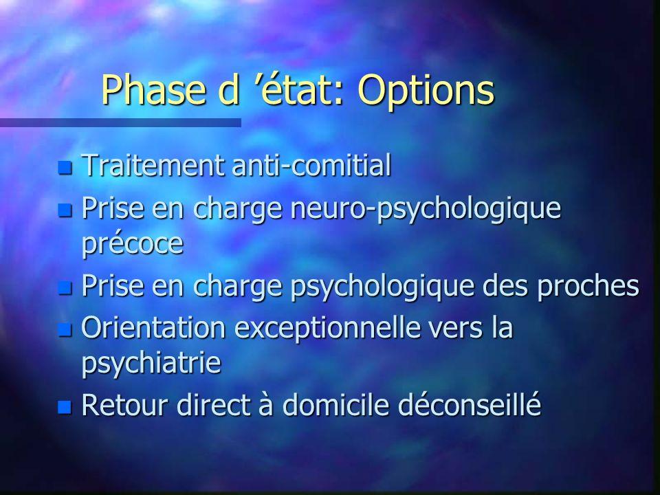 Phase d 'état: Options Traitement anti-comitial